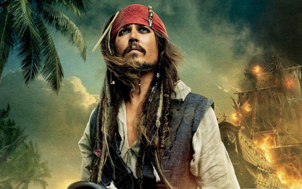 Джонни Депп в Пиратах карибского моря